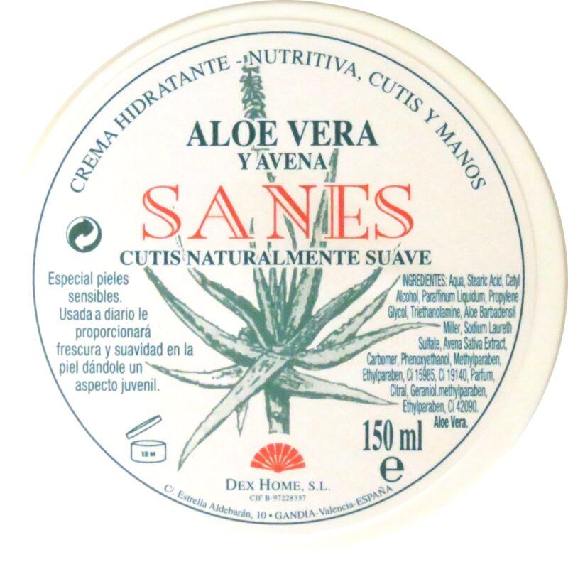 Crema hidratante de avena y aloe vera Sanes