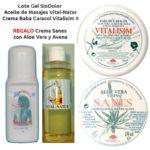 Lote GelSinDolor + Vital-Natur + Vitalisim II Regalo Crema Sanes