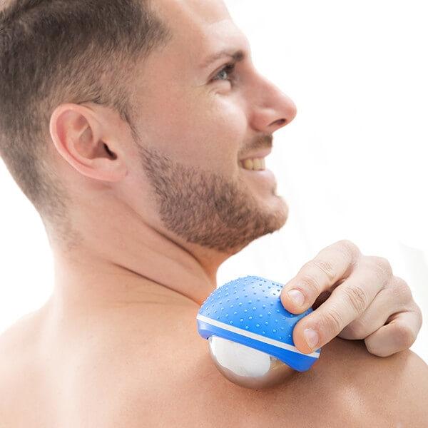 masajeador bola frio. hombro